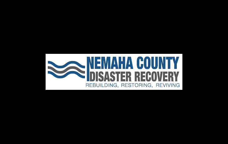 Logo for Nemaha County Disaster Recovery with added Rebuilding, Restoring, Reviving text.